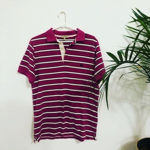 Men's Burberry Striped Collared Polo Short Sleeve